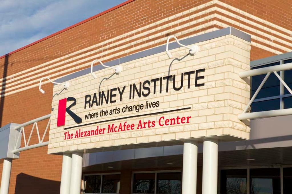 Rainey Institute Front Sign